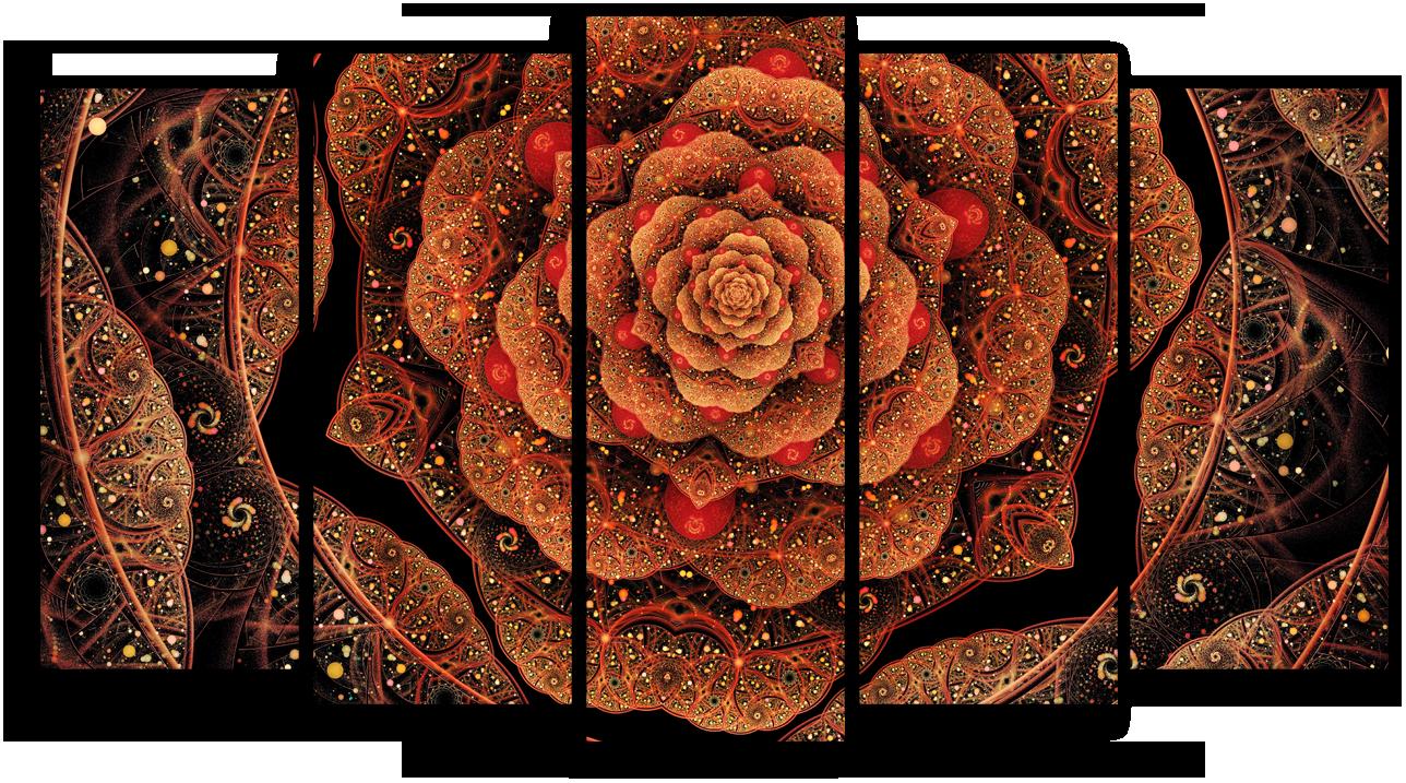 "Абстракция Модульная картина ""Мерцающий цветок"" М953.png"