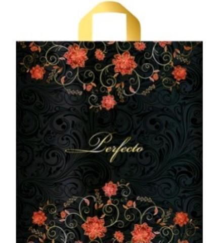 Пакет полиэтиленовый с петлевой ручкой 42х46+4 (95) VIP Перфекто Флауэр