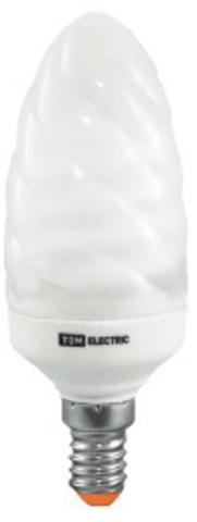 Лампа энергосберегающая КЛЛ-СT-11 Вт-2700 К–Е14 TDM (витая свеча) (mini)