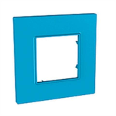 Рамка на 1 пост. Цвет Голубика. Schneider Electric Unica Quadro. MGU4.702.26