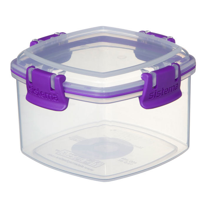 """Контейнер для печенья Sistema """"KLIP IT"""" 400 мл, цвет Фиолетовый"""