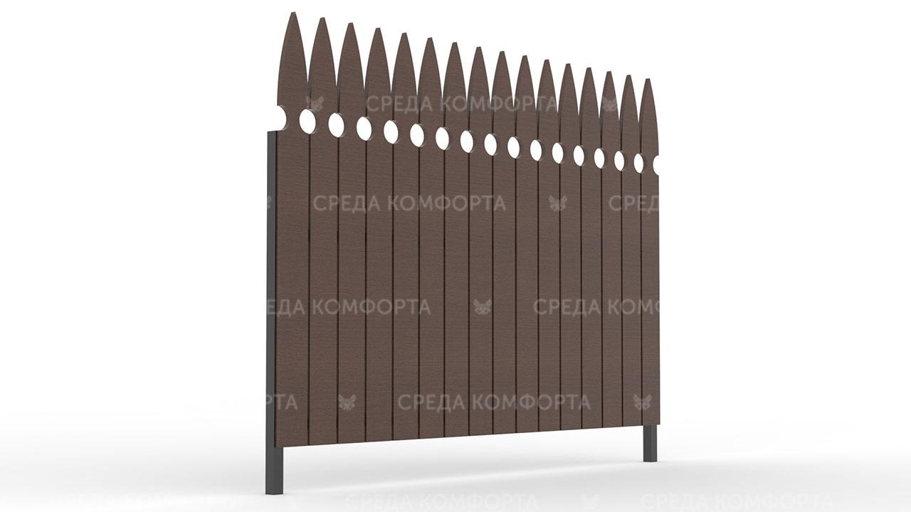 Деревянный забор ZBR0113