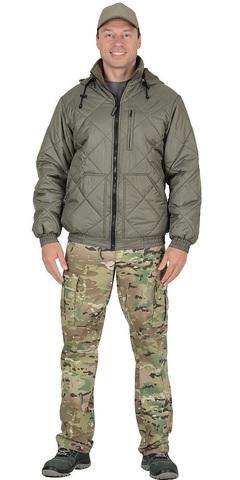 Куртка мужская с капюшоном, оливковая