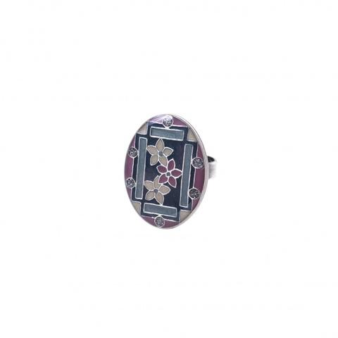 Кольцо Незабудки K75804-4 BW