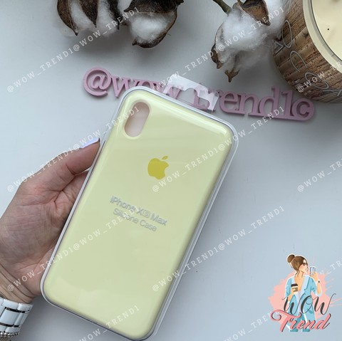 Чехол iPhone XS Max Silicone Case /mellow yellow/ волшебно-желтый 1:1