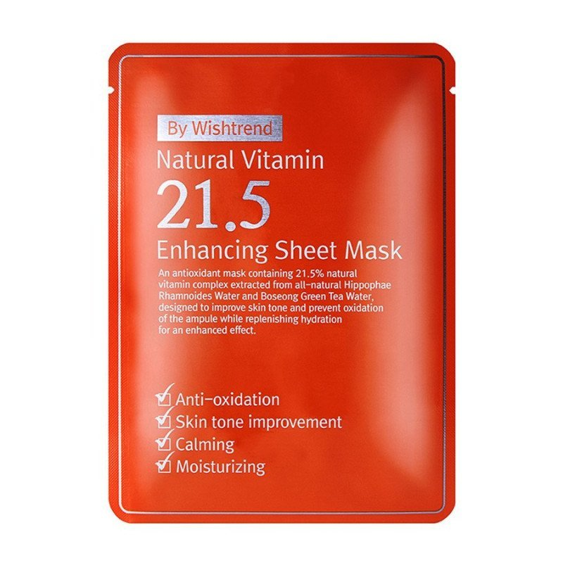 Маска тканевая By Wishtrend Natural Vitamin 21.5% Enhancing Sheet Mask