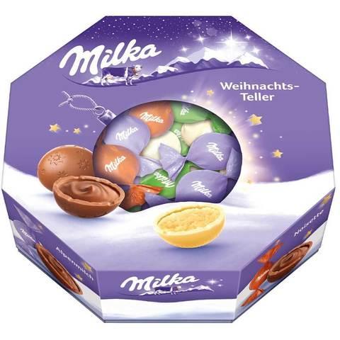 Шоколадные конфеты Milka Weihnachts - Teller Christmas Plate 141 гр