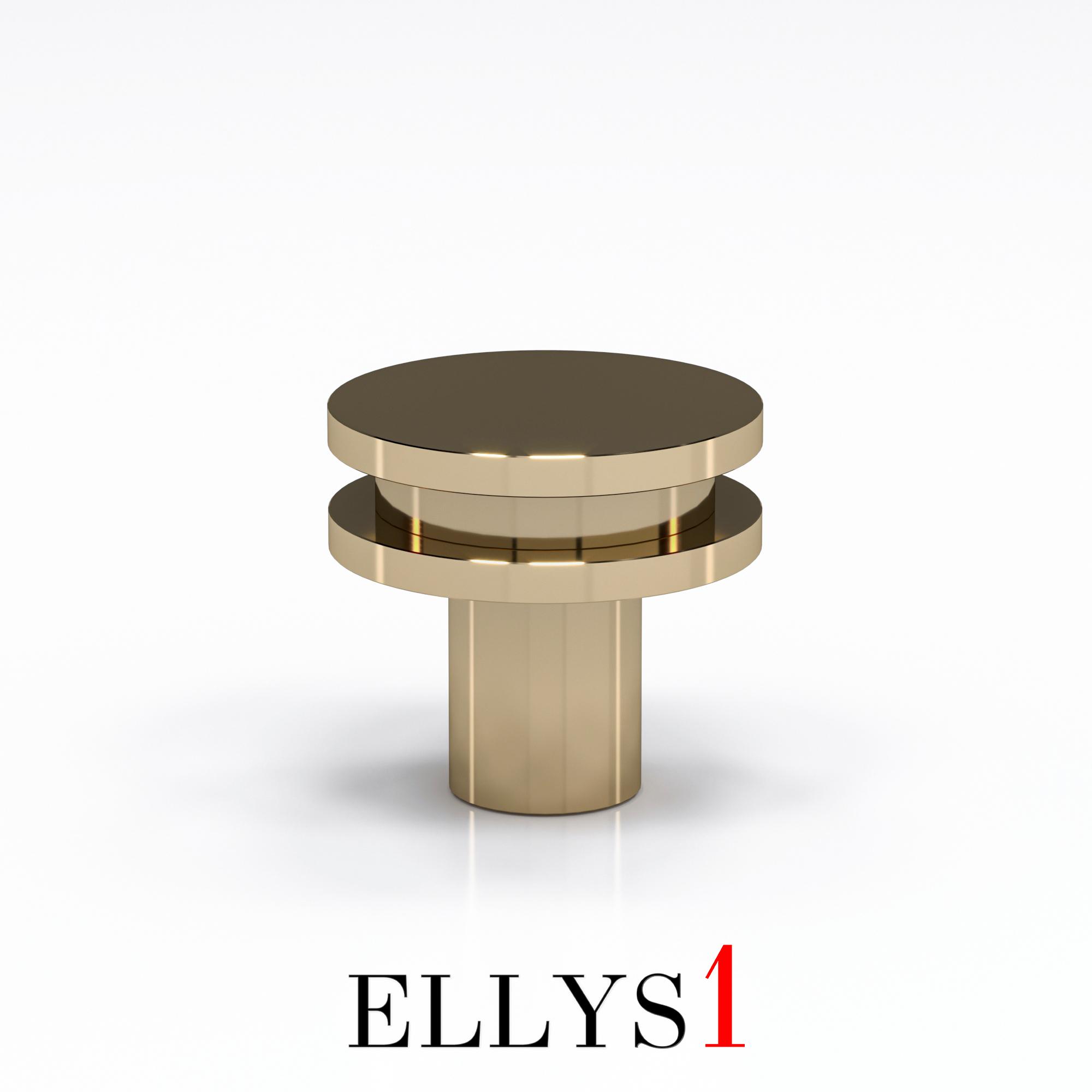Кнопка Iris / Polished Lacquered Brass