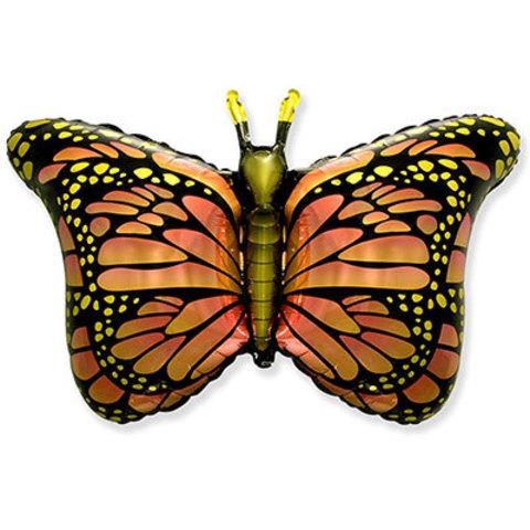 Шар фигура Бабочка крылья оранжевые