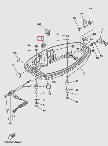 Втулка для лодочного мотора Т30 Sea-PRO (11-19)