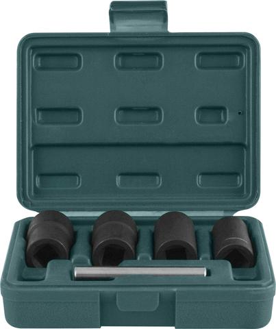 AN040120 Спиральные головки для демонтажа поврежденного крепежа в наборе, 17, 19, 21, 22 мм, 5 предметов