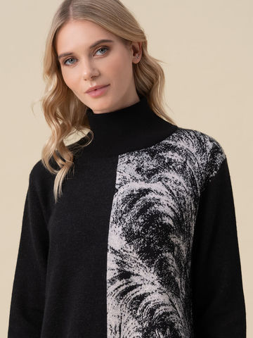 Женский свитер черного цвета из кашемира и вискозы - фото 3