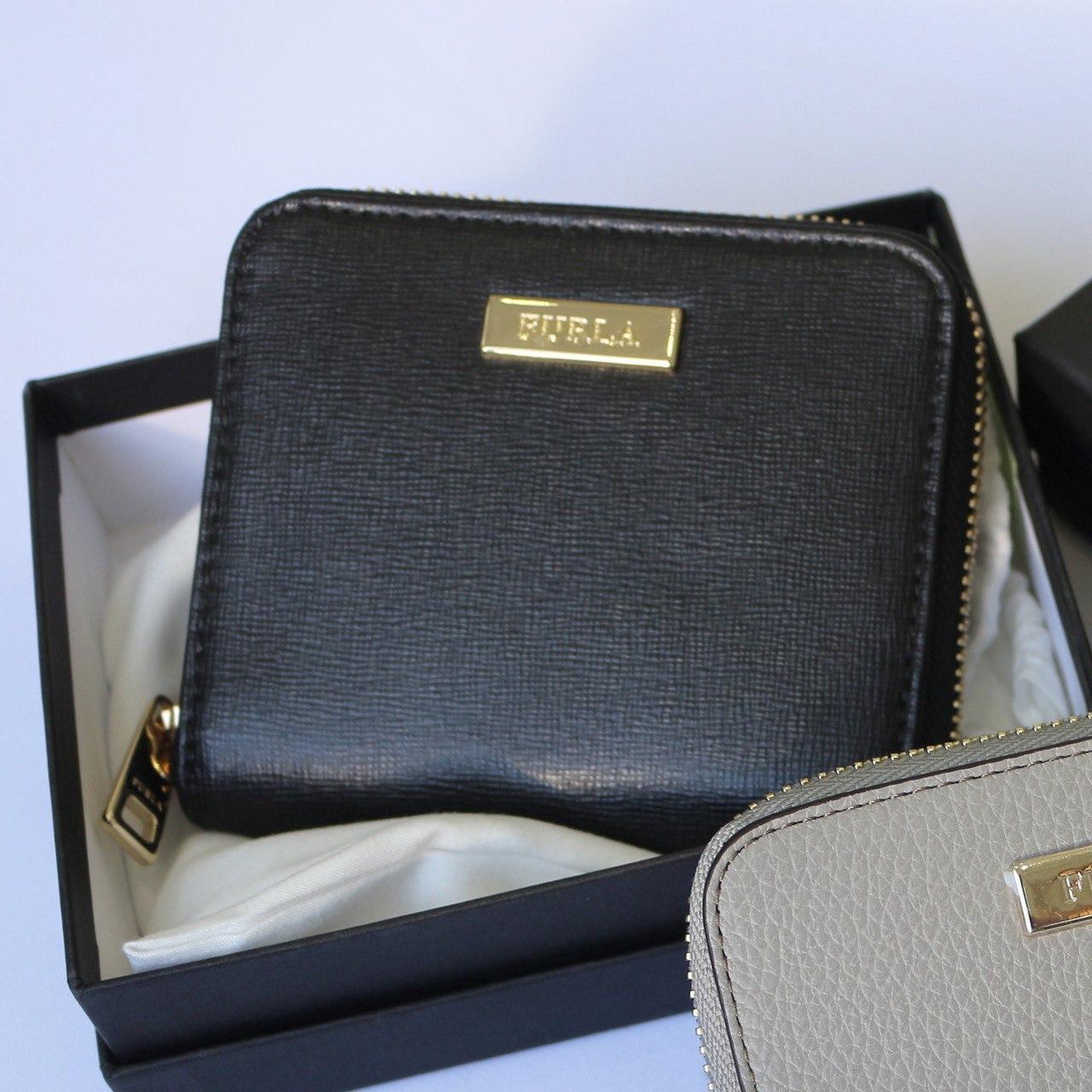 Кошелек FURLA B30 classic черный кожаный женский маленький