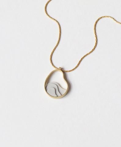 Подвеска Collar Atlas Dorado con Cemento