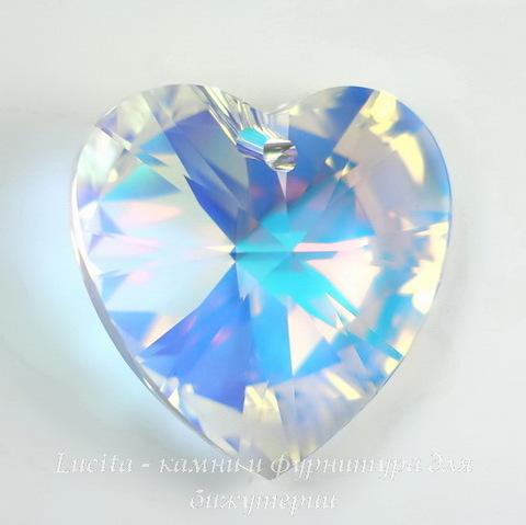 6228 Подвеска Сваровски Сердечко Crystal AB (28 мм)