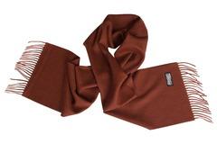 Шерстяной шарф коричневый 01201