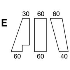 Elastic sheet / model E / white