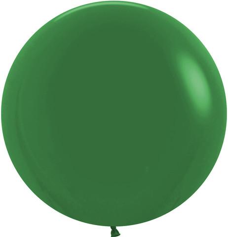 №24 Зелёный Гелиевый шар пастель 60см с обработкой