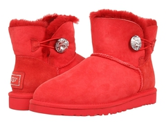 UGG Mini Bailey Button Bling Red