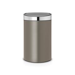 Мусорный бак Touch Bin New (40 л), Платиновый/крышка стальная матовая