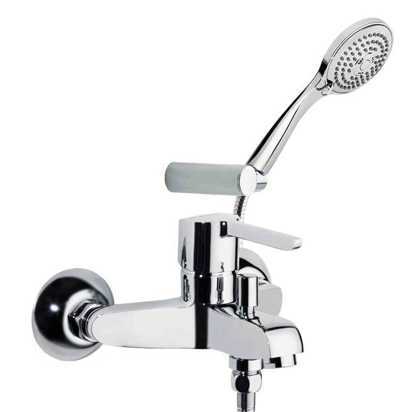 Смеситель для ванны с изливом и душевым комплектом YPSILON 6605NT3
