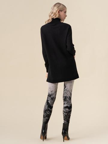 Женский свитер черного цвета из кашемира и вискозы - фото 5