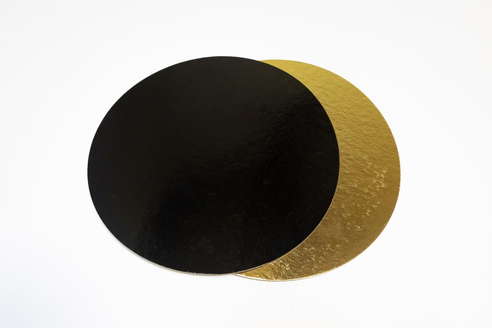 Подложка усиленная двухсторонняя, 3 мм (золото/чёрный), диаметр 26 см