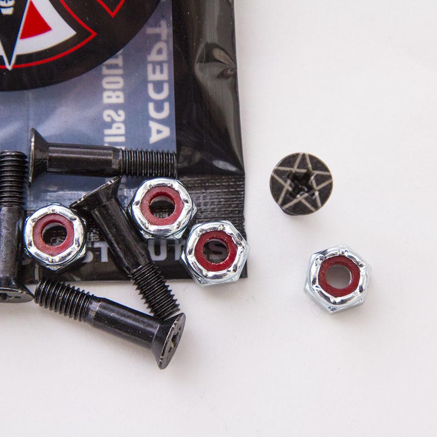 Болты для скейтборда INDEPENDENT x THRASHER Phillips Hardware (Black/Silver)