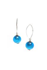 Серьги Perla Grazia голубые (Aqua)