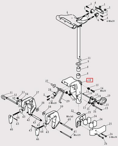 Кронштейн поворотный для лодочного мотора F9.8 Sea-PRO (13-12)