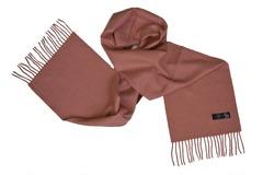 Шерстяной шарф коричнево-розовый 01405