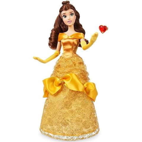 Дисней Красавица и Чудовище Белль классическая кукла 30 см с кольцом