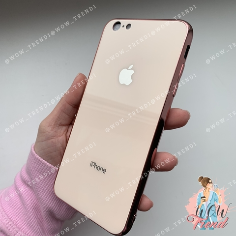 Чехол iPhone 7/8 Glass Case Logo /rose gold/