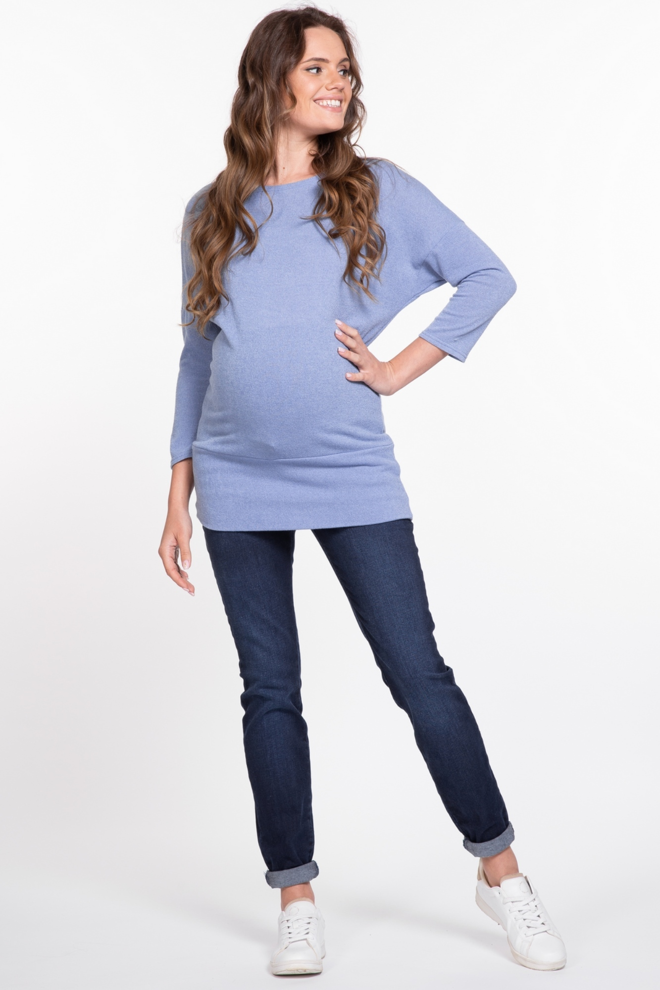 Джемпер для беременных 03805 голубой