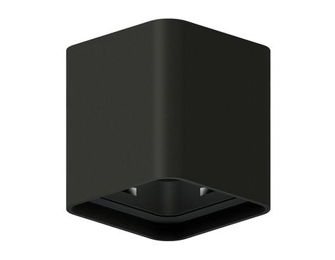 Корпус светильника накладной для насадок 70*70mm C7841 SBK черный песок 95*95*H100mm MR16 GU5.3