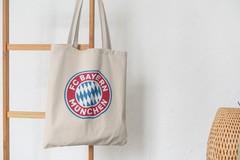 Сумка-шоппер с принтом FC Bayern München (ФК Бавария) бежевая 001