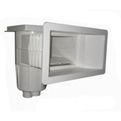 Скиммер для бетонного бассейна 15 л c широким раструбом внутреннее подключение 1 1/2