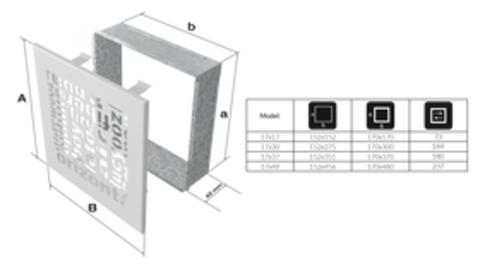Вентиляционная решетка АВС (17*17) 17ABC/B