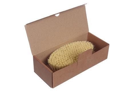 YOZHIK Щётка для сухого массажа (класс XL компакт, натуральное волокно тампико)_коробка