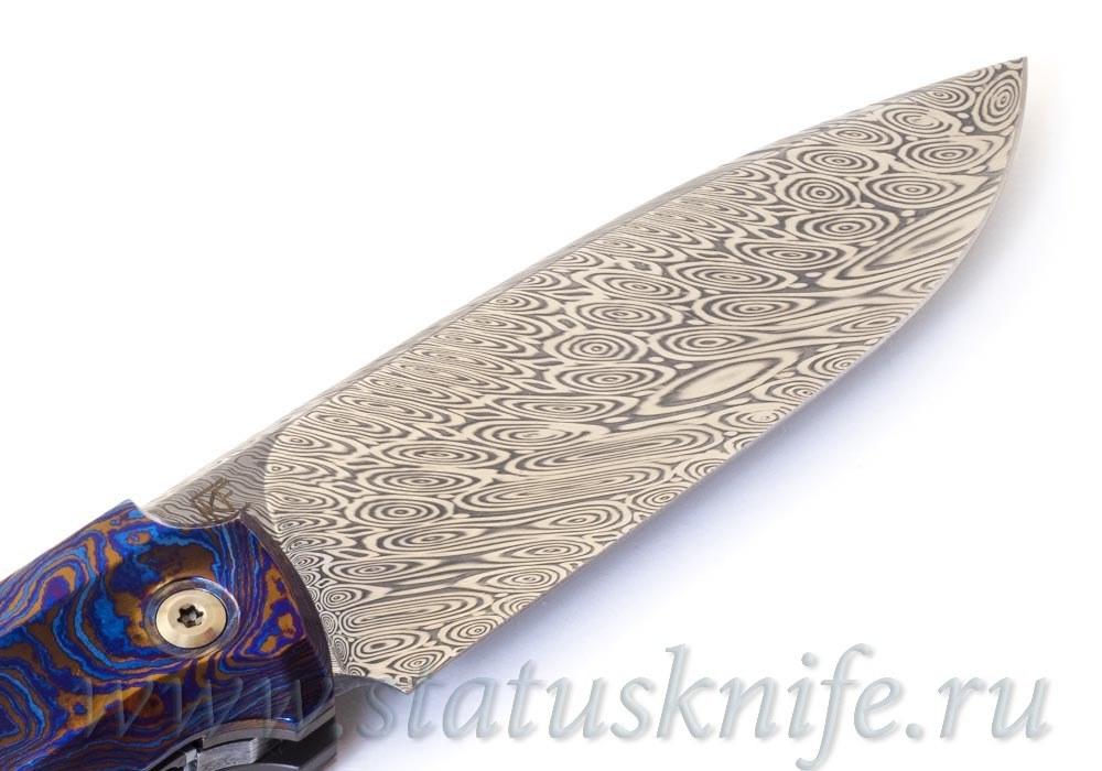 Нож CKF/Philippe Jourget FIF20 TimDam (Damasteel, Timascus, shred CF) - фотография