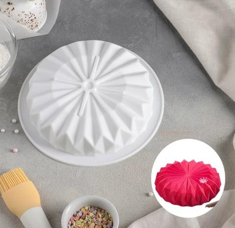 Силиконовая форма для муссовых десертов Оригами, 18,5см