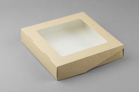 Коробка крафт, 200х200х40 мм