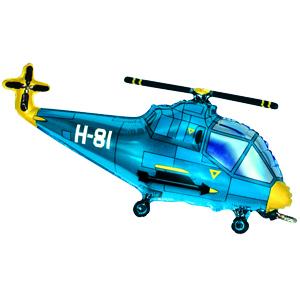 Фольгированный шар Вертолет голубой 57см X 96см