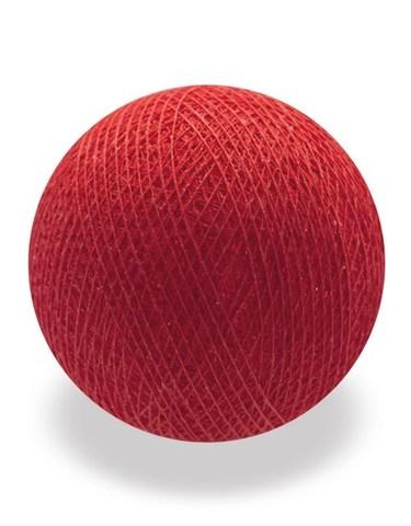 Хлопковый шарик красный
