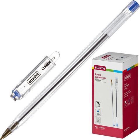 Ручка шариковая Attache Classic синяя (толщина линии 0.7 мм)