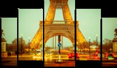 "Модульная картина ""Центр Парижа"""