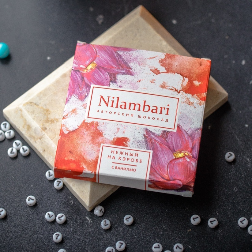 Фотография Шоколад Nilambari нежный на кэробе с ванилью / 65 гр купить в магазине Афлора