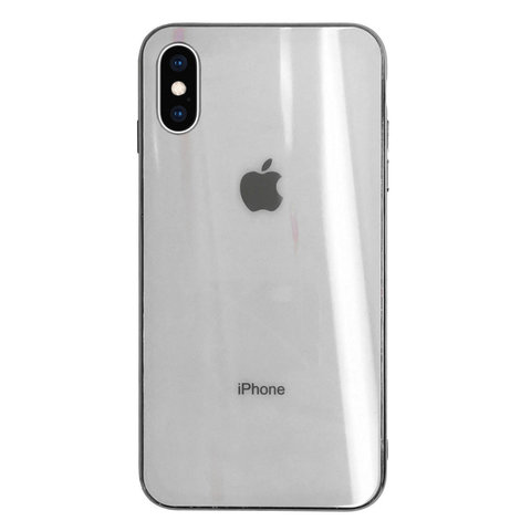 Чехол iPhone XS MAX Glass polaris Case Logo /white/