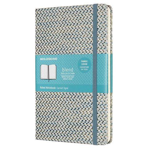 Блокнот Moleskine LIMITED EDITION BLEND 19 LCBD04QP060B Large 130х210мм обложка текстиль 240стр. линейка синий/бежевый