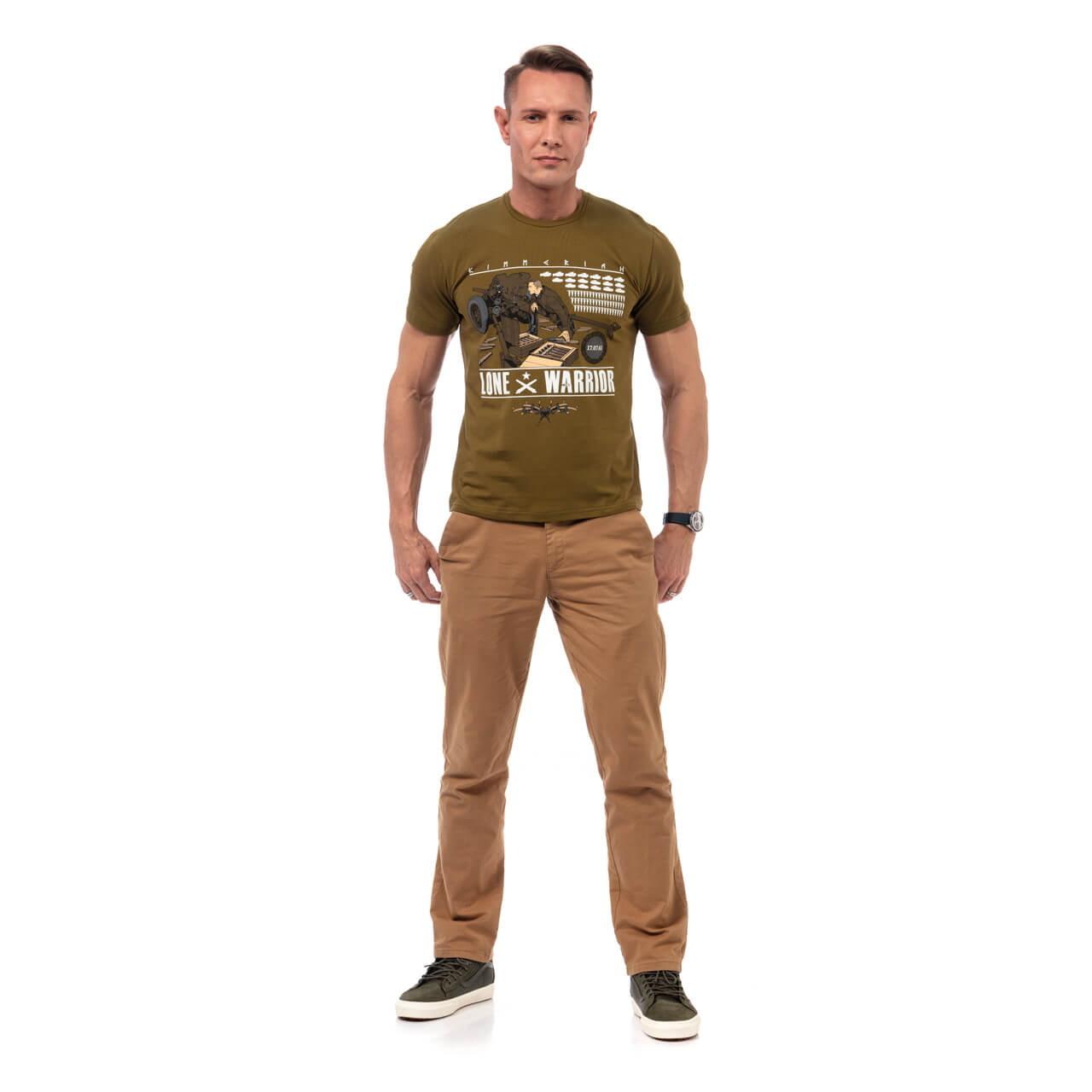 Футболка «Подвиг артиллериста» хаки